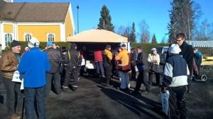 Vaalitapahtuma Ikaalisten torilta 11.3.2015.